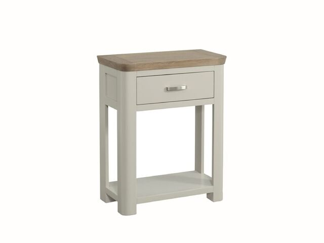 Treviso painted small console table with drawer caprice for Small console table with drawer